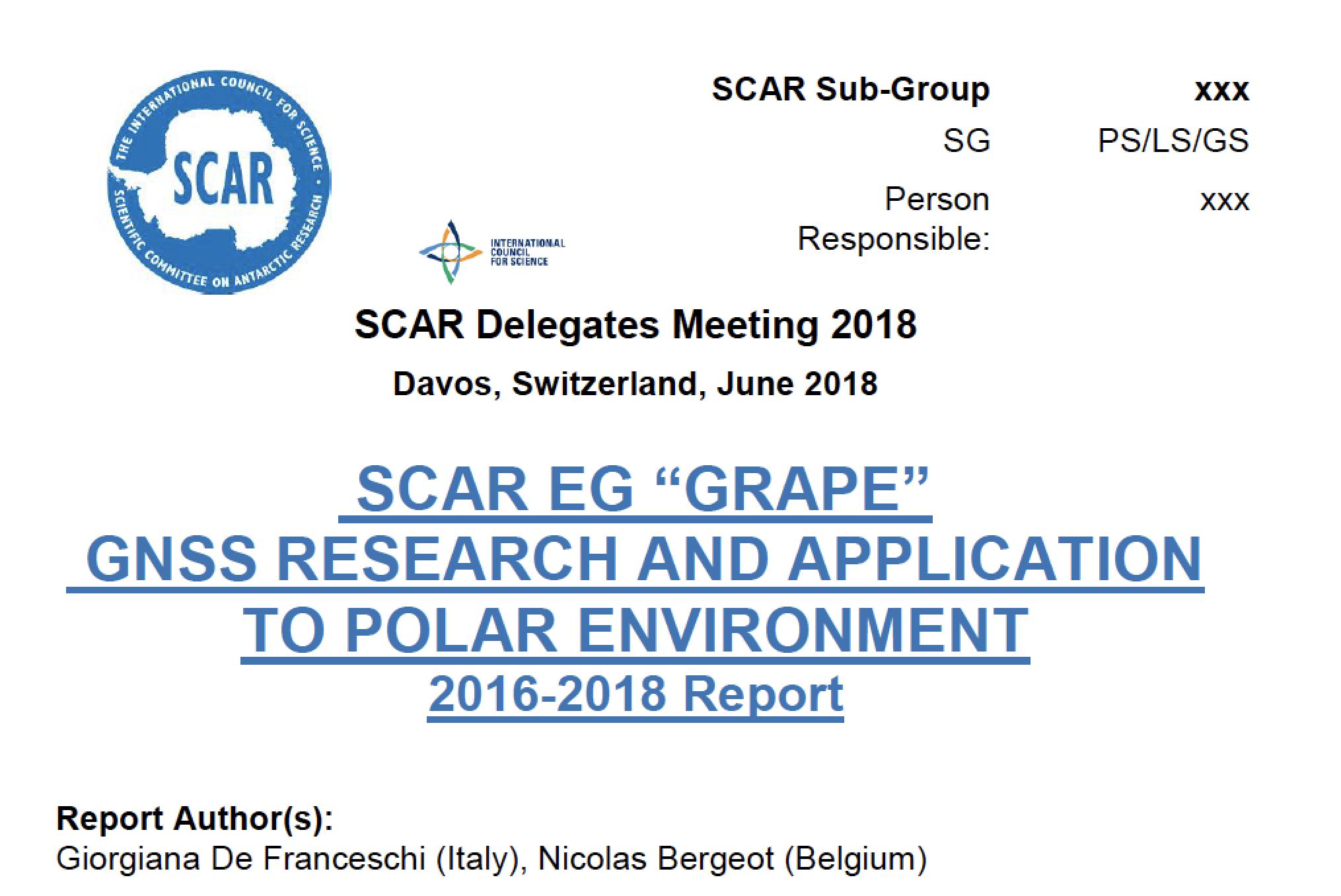 GRAPE-PS annual Report 2018
