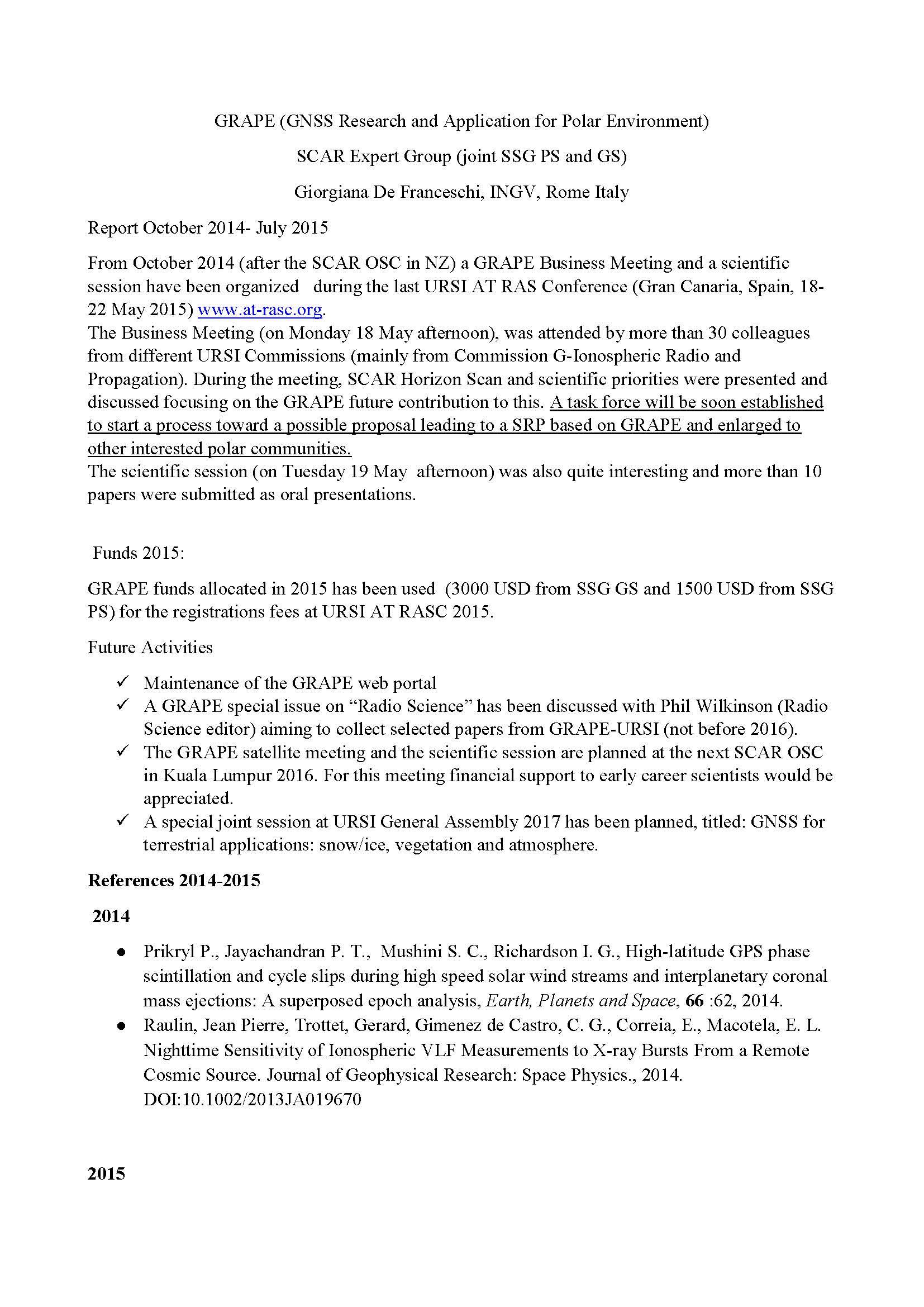 GRAPEannual Reports2015